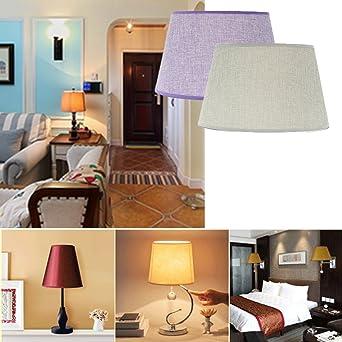 ZHENWOFC 230 * 300 * 185 MM Lámpara de techo Sombra Mesa de mampara Hogar de algodón Tela texturizada Habitación de lino de PVC Luz led (Color : Grey): Amazon.es: Iluminación
