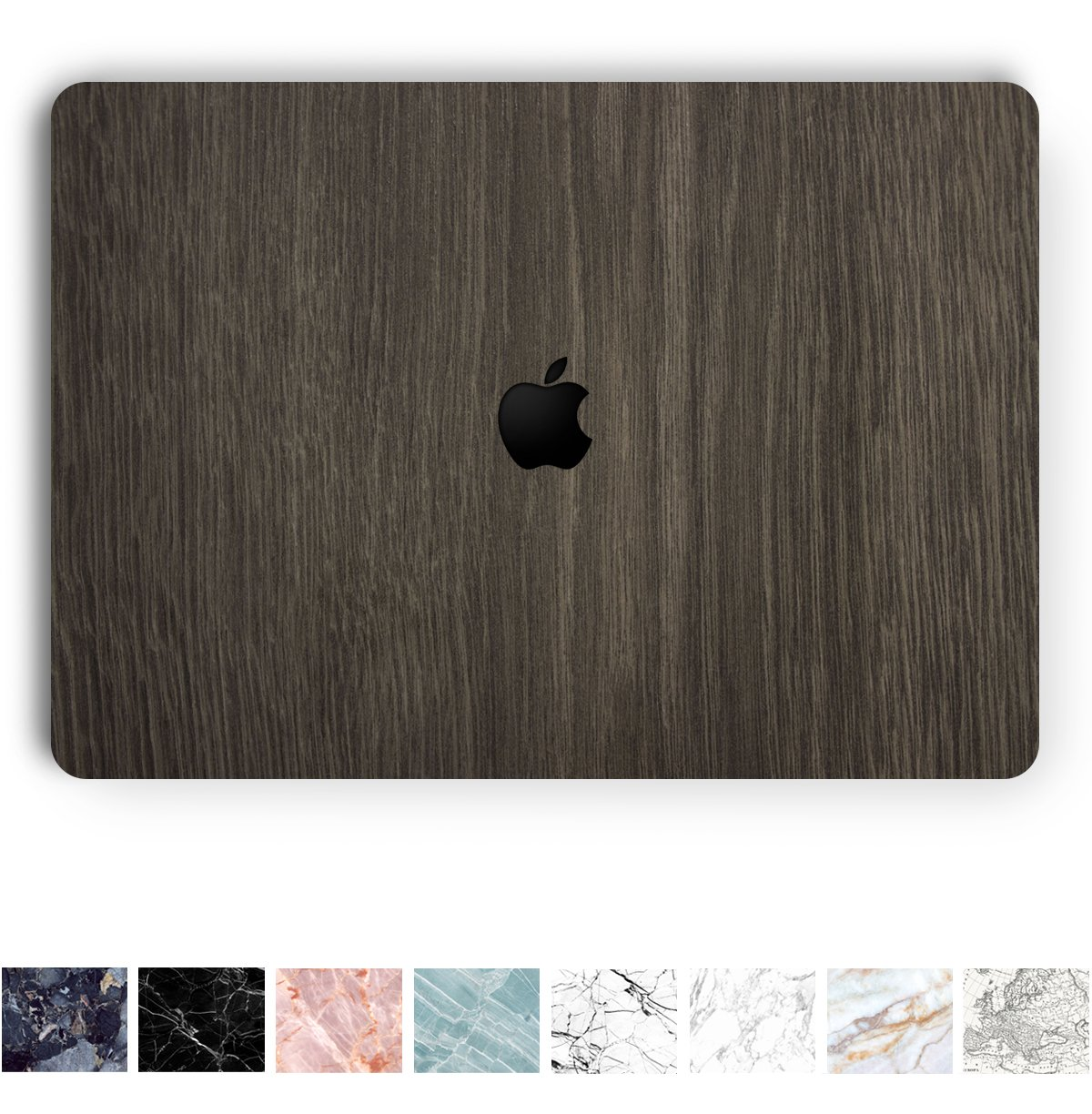 Koru Premium Dark Wood Vinyl Decal Skin Sticker Case Cover for Macbook Pro 13-inch with / without Touch Bar (2016 & 2017 Release)