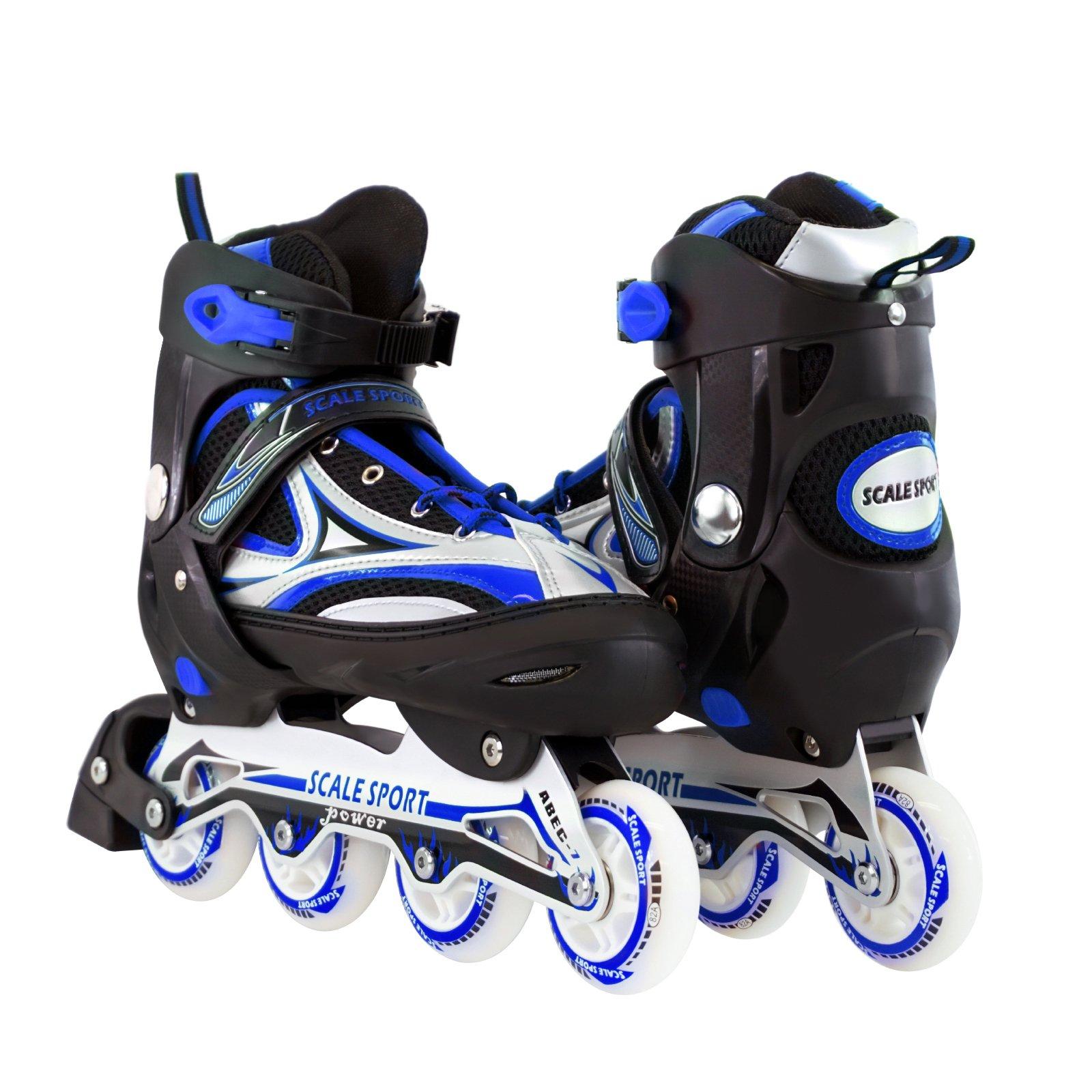 Blue Adjustable Inline Skate Size 8-11 US For Men