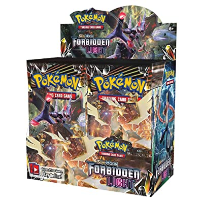Pokemon TCG: Sun & Moon Forbidden Light Booster Sealed Box | Collectible Trading Card Set | 36 Booster Packs | Over 130 Cards + 5 Prism Star Cards, 8 Pokemon-GX Cards, 6 Ultra Beasts, 15 Trainer Cards: Toys & Games