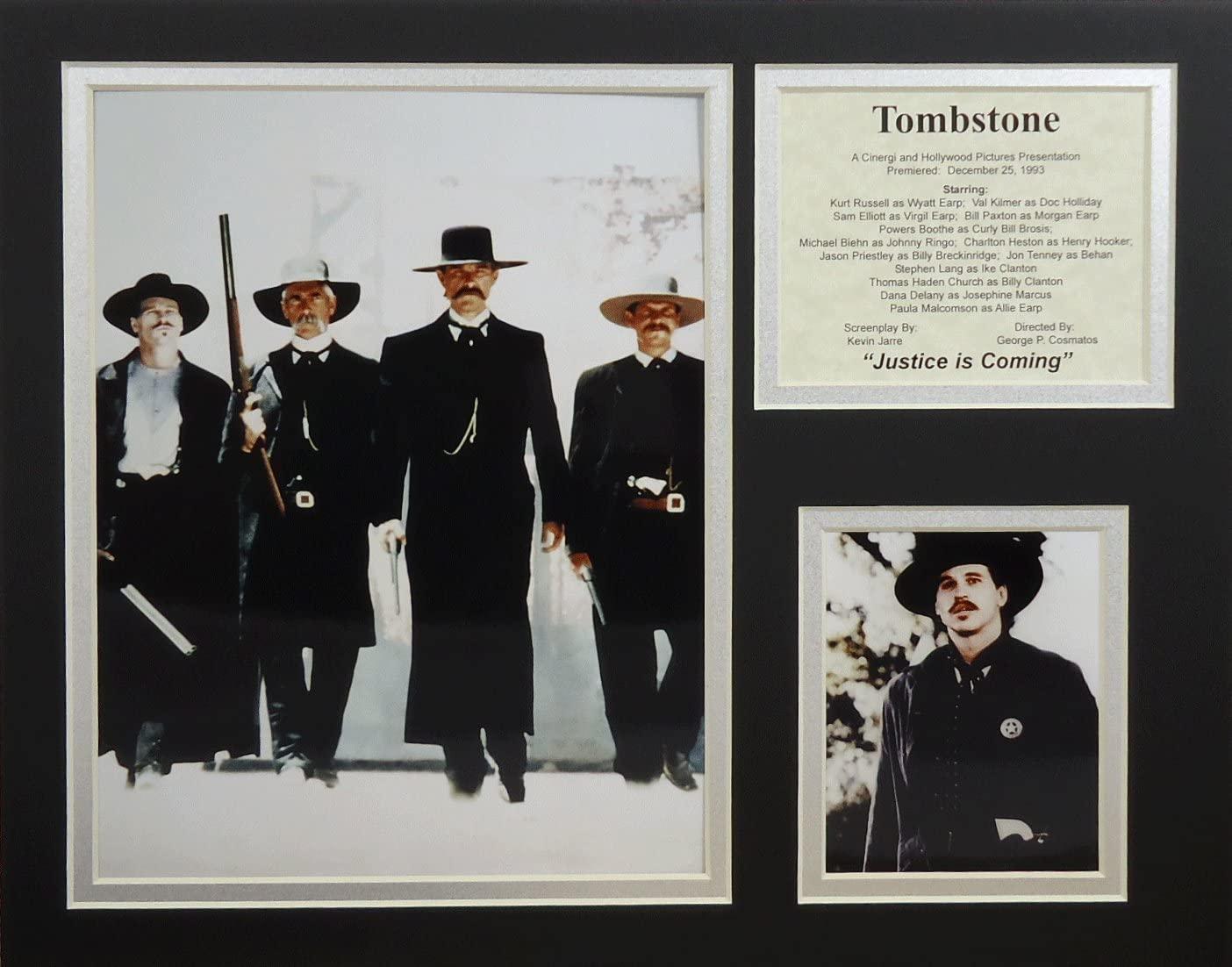 """Tombstone - II 11"""" x 14"""" Unframed Matted Photo Collage by Legends Never Die, Inc"""