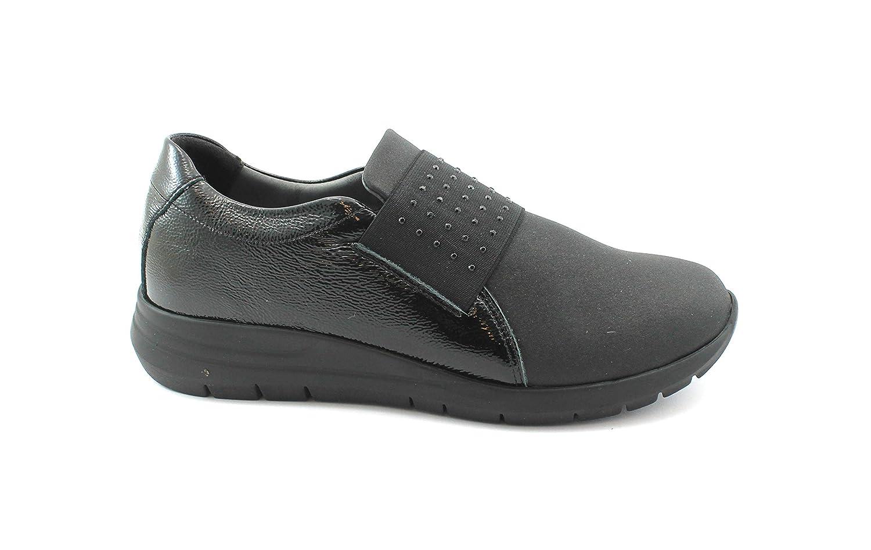 Grunland Call SC3908 Schwarze Schuhe Frau Turnschuhe ohne elastische Schnürsenkel