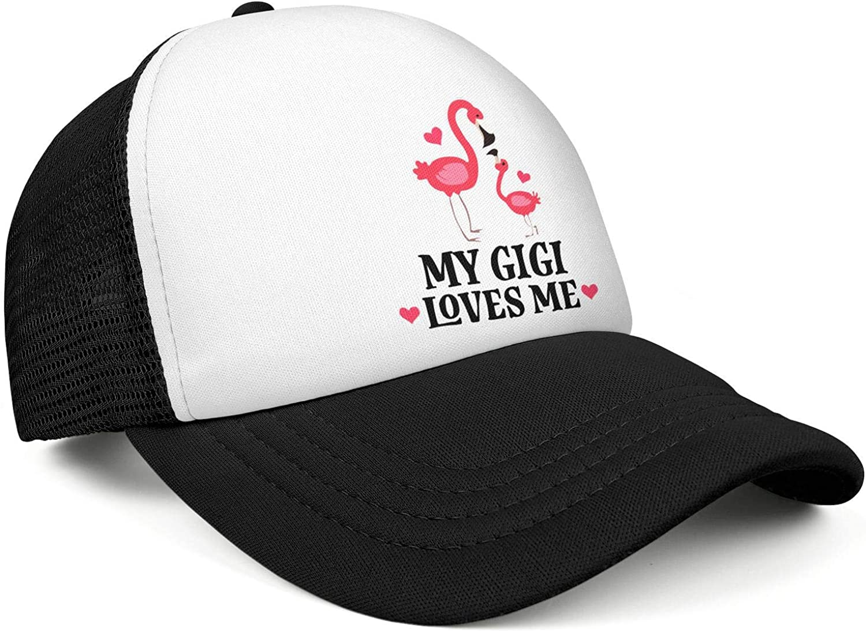 My Gigi Loves Me Flamingo Snapback Caps Men//Women Street Dancing Black Sports Hat