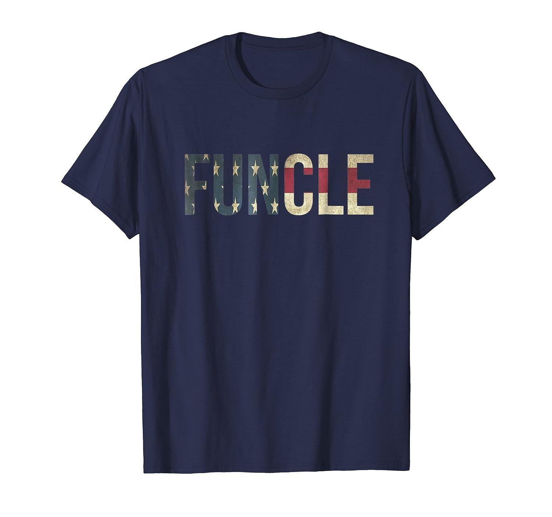 Mens Men's Funcle T Shirt Cool Uncle Gift Patriotic American Flag-Bawle