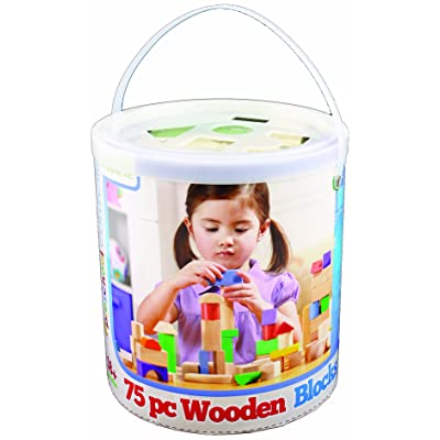 Maxim Wooden Shape Sorter Canister, 75-Piece: Toys & Games