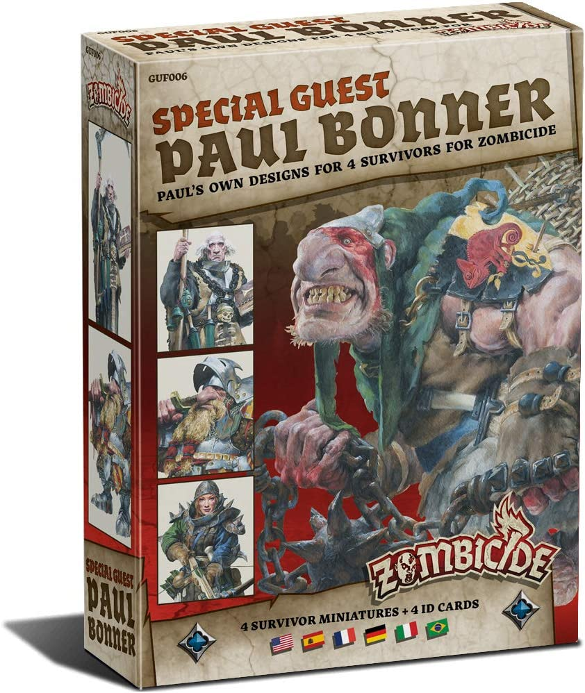 Edge Entertainment- Zombicide Black Plague - Special Guest Box Paul Bonner, Color (EECMZB14): Amazon.es: Juguetes y juegos