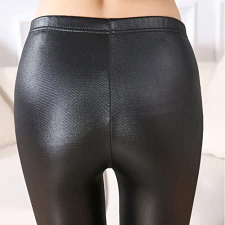 Femme Legging de Survêtement Simili Cuir Sexy Chic 46fa702f3c1