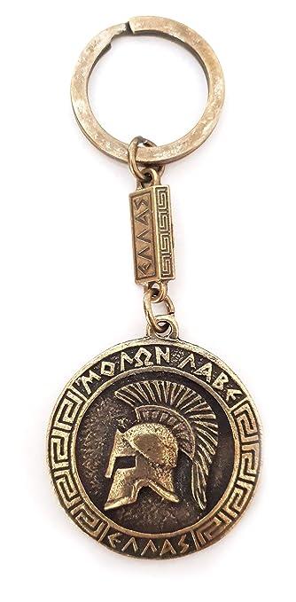 IconsGr Llavero Antiguo Espartano Casco de Batalla Moneda ...