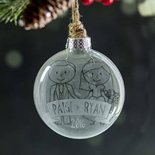 personalized wedding ornament our first christmas stick figure ornament perfect newlywed christmas gift