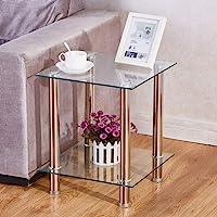BOJU Moderna Lucida Nesting Table Set di 3/mobili da Salotto in Legno rettangolo Divano tavolino tavolino tavolino Nero