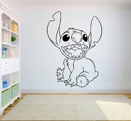 Stitch Wall Art Walt Disney Vinyl Sticker Lilo U0026 Stitch Wall Vinyl Decal  Decor For Home
