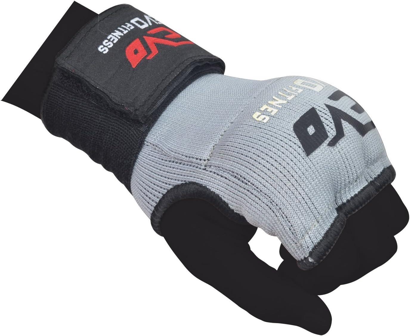 EVO Fitness Elasticated GEL Inner Gloves Boxing Bag Hand Wraps MMA Grappling UFC