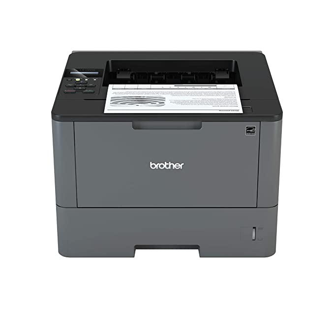 Brother HL-L5100DN - Impresora láser Profesional Monocromo (Bandeja 250 Hojas, 40 ppm, USB 2.0, Memoria de 256 MB, Doble Cara automática, Ethernet) Color Gris carbón