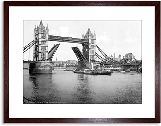 The Art Stop Vintage Photo London Parliament from River England Framed Print F97X3896