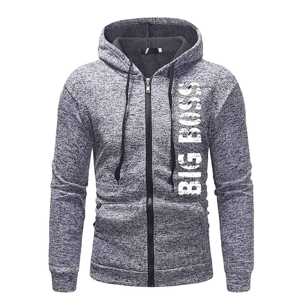 TUSANG MensAutumn Winter Long Sleeve Casual Hoodie Pullover Sweatshirt Outwear Tops Blouse