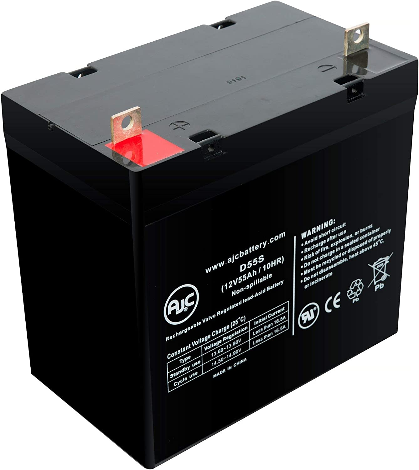 Power PRC1250XL 12V 55Ah UPS Battery This is an AJC Brand Replacement