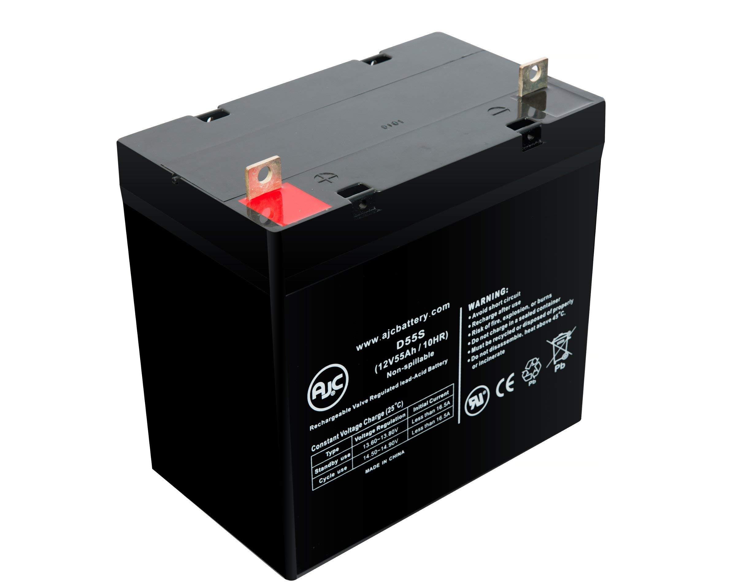 This is an AJC Brand Replacement Jolt SA1245 12V 5Ah UPS Battery