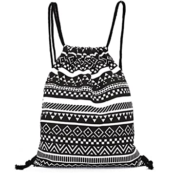 f25a450c48d7 DANUC Gym Sack Bag Drawstring Backpack Sport Bag for Men & Women School  Travel Backpack