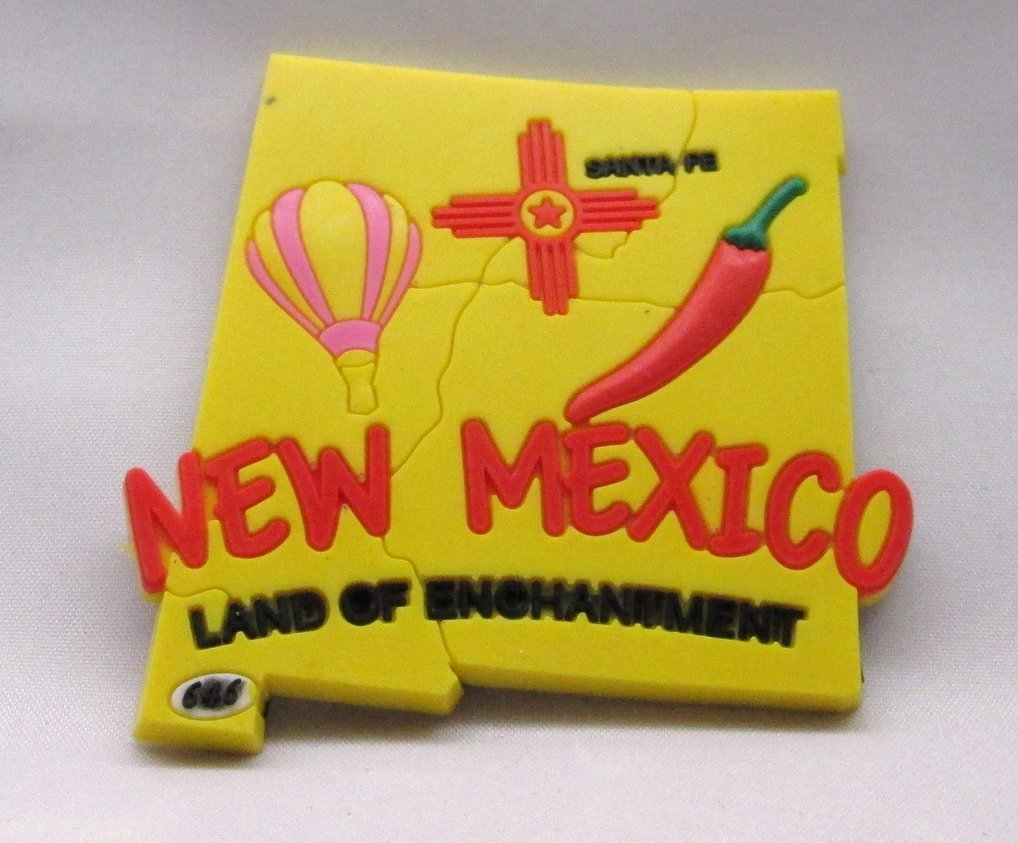 New Mexico - NM State Magnet 3D - 646