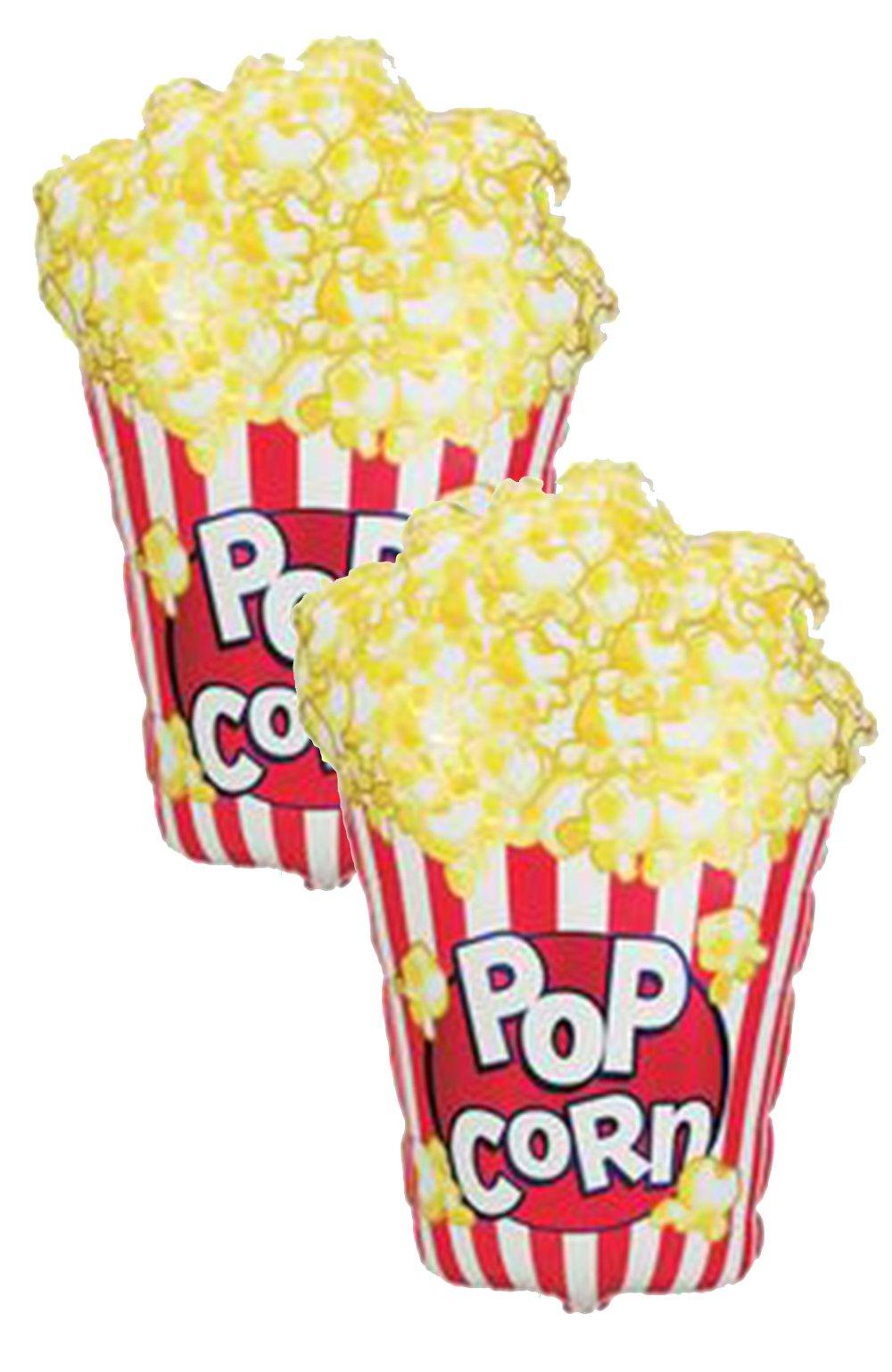 Set of 2 Jumbo 38'' Popcorn Party Balloons