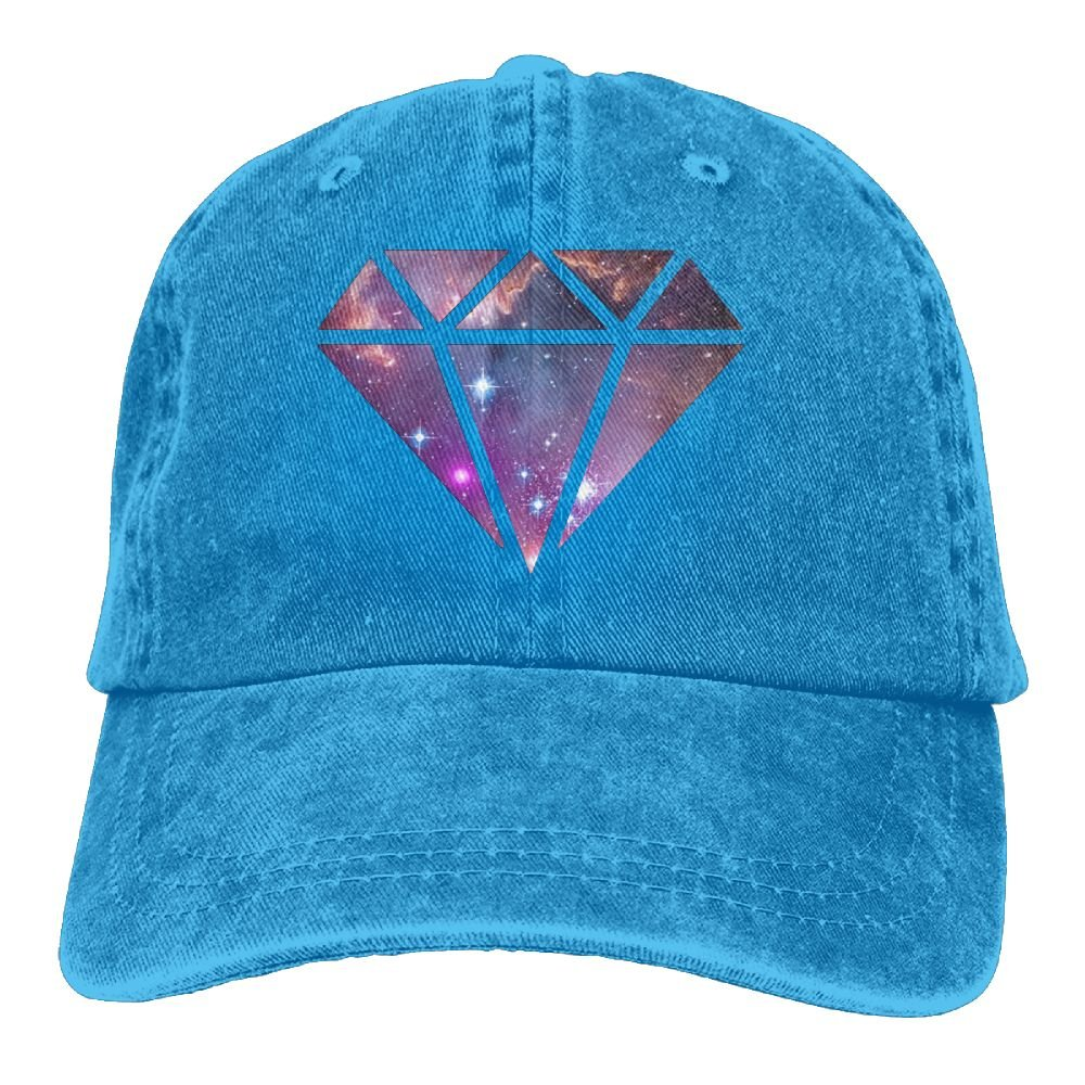8de7853e60698 Galaxy Starry Sky Diamond Denim Hat Adjustable Male Cute Baseball Hats at  Amazon Men s Clothing store