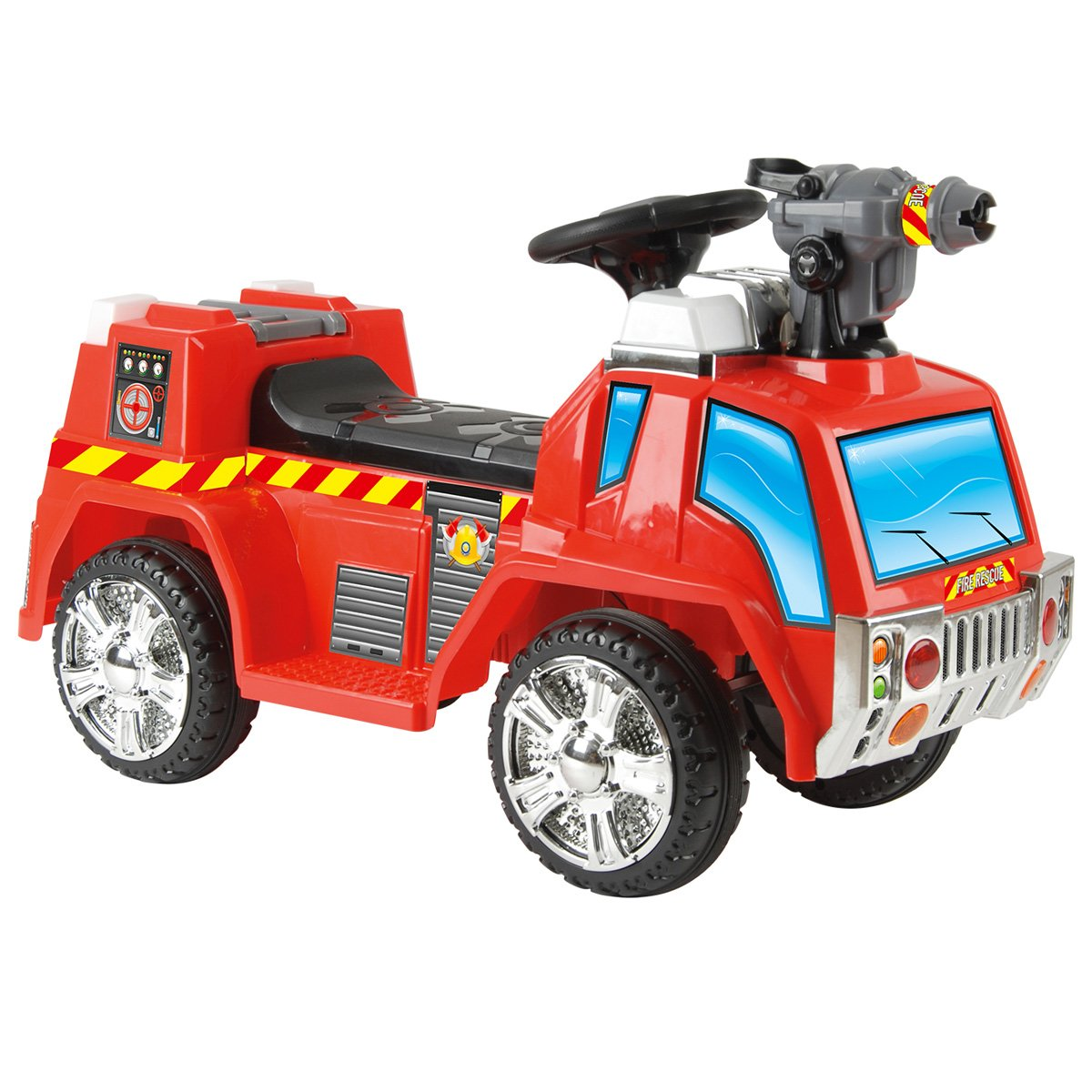 Charles Bentley Toyrific 6v Battery Powered Electric Fire Engine Ride on Car Truck Vehicle With Bubble Gun Function Age 3-6 Years