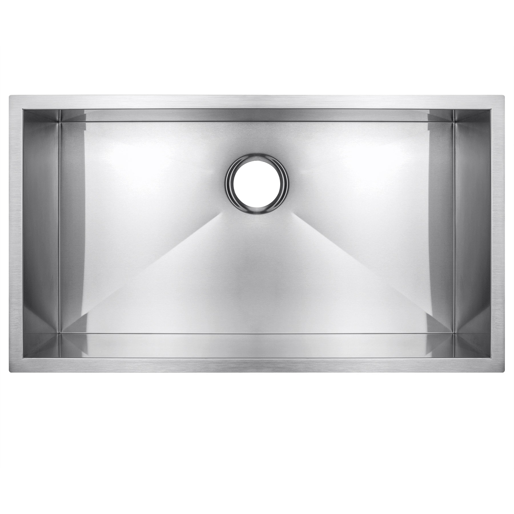 Golden Vantage 32'' x 18'' x 9'' Single Basin Bowl Undermount Handmade 18 Gauge Stainless Steel Kitchen Sink