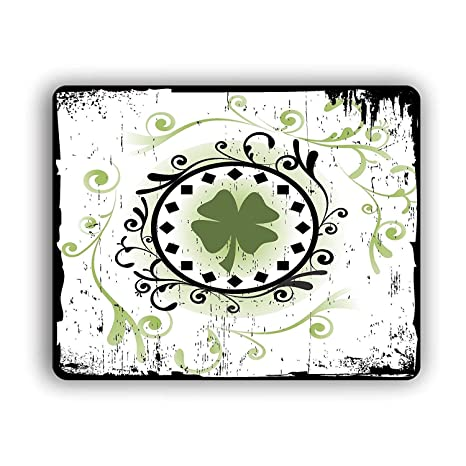 4 Leaf Clover Computer Mouse Pad For Computers and Laptops