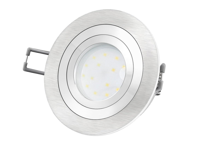 LED-Einbaustrahler Ultra flach (30mm) RF-2 rund Alu gebürstet ...
