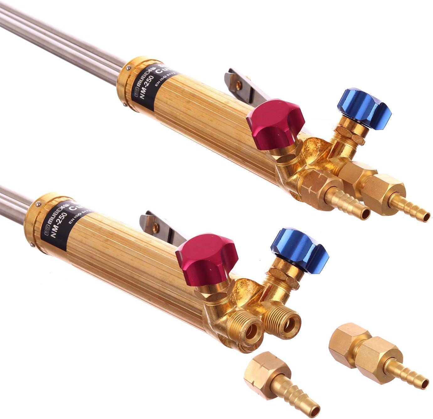 Schneidbrenner Schneiden Fackel MM-250 750mm 75cm f/ür Gas Propan Sauerstoff mit D/üse 3//64 PNME 10-25mm