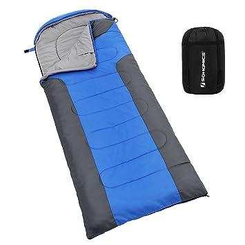 SONGMICS Sleeping Bag With Hood For 30 60 Lightweight Waterproof