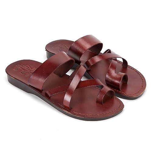 240eba1d466010 Camel Modern Style Leather Sandals Designed and Produced in Jerusalem (36  EU 3 UK