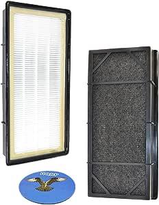 HQRP - 2 filtros de purificador de aire HEPA® para Bionaire BAPF30, BAPF300, BAPF29, BAPF40, BAPF50 de repuesto para tableta Bionaire y purificadores de aire de torre + posavasos HQRP: Amazon.es: Hogar