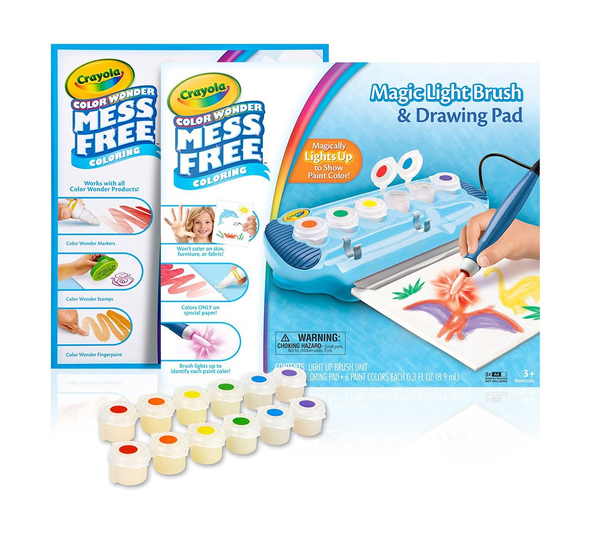 Crayola Color Wonder Magic Light Brush & Drawing Pad, Mess Free Coloring, Ages 3, 4, 5