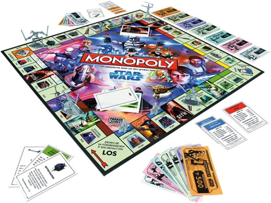 Parker 04351100 - Monopoly Star Wars, Clone Wars (Importado de Alemania): Amazon.es: Juguetes y juegos