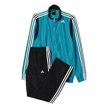 adidas Herren Trainingsanzug TS Basic 3S, GrünWeiß, 162