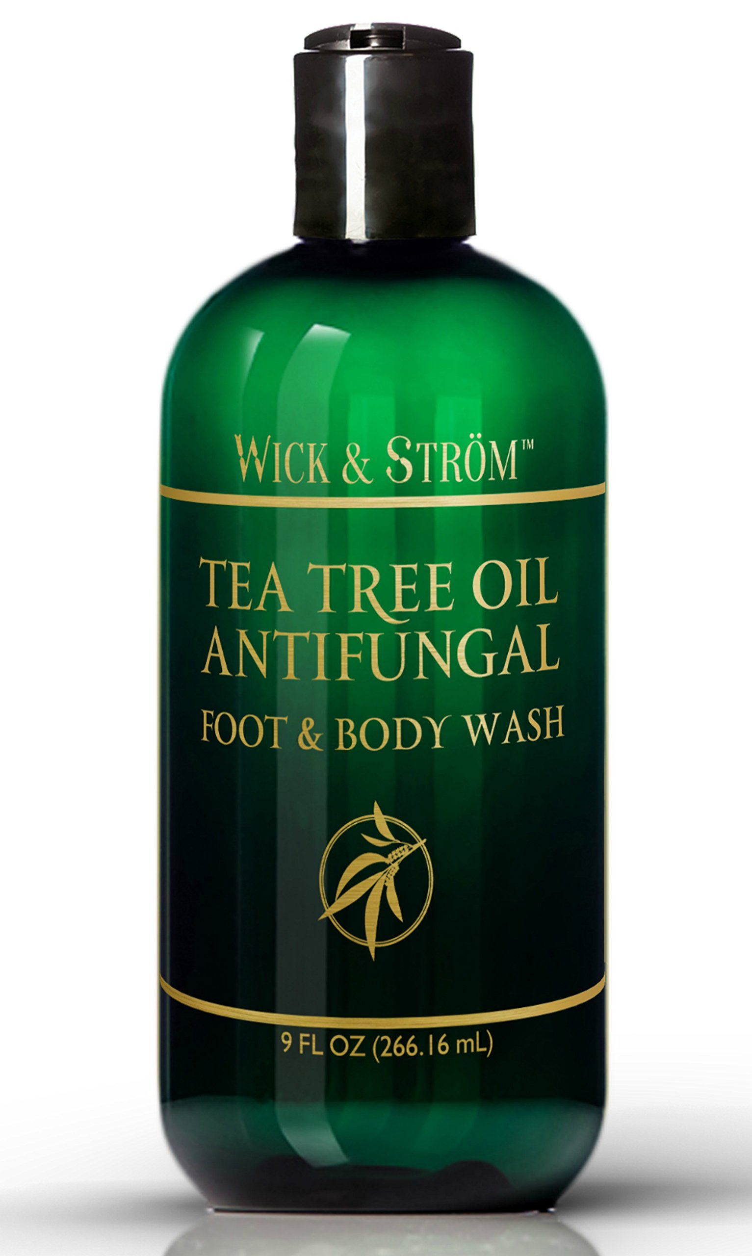 Antifungal Soap with Tea Tree Oil & Active Ingredient Proven Clinically Effective in Athletes Foot, Jock Itch & Ringworm Treatment. Body Wash Helps Body Acne & Odor - 9 oz (1pk)