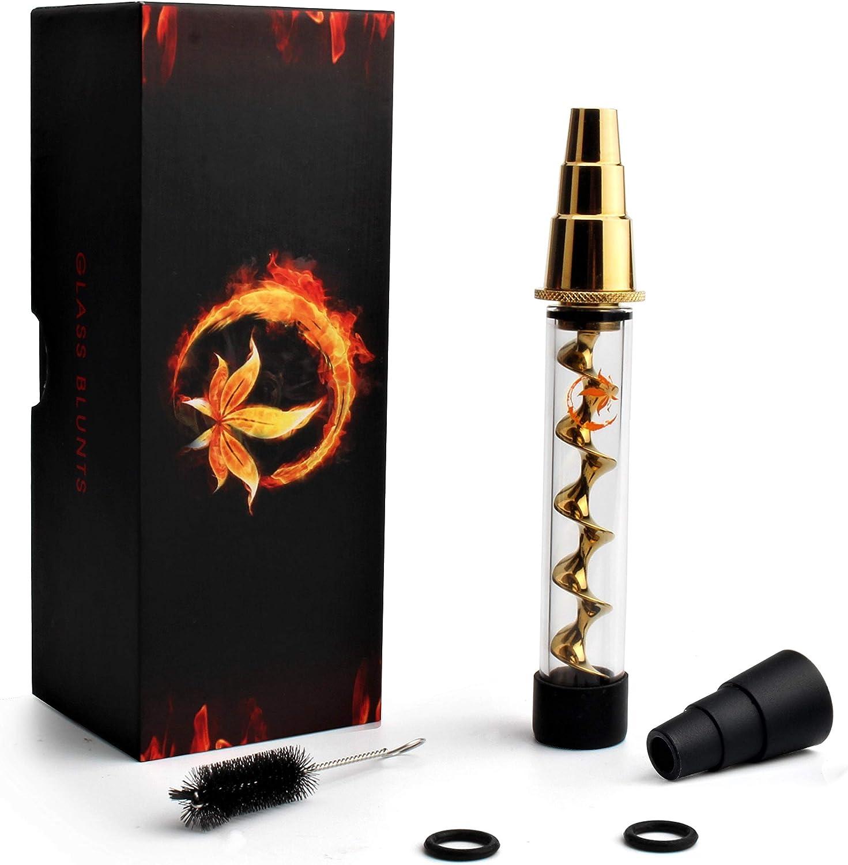 ZenBlazes Kit de tubos de vidrio de fumar para hierbas y tabaco