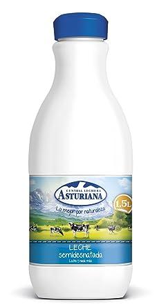 Central Lechera Asturiana - Leche UHT Semidesnatada - Botella 1,5 L