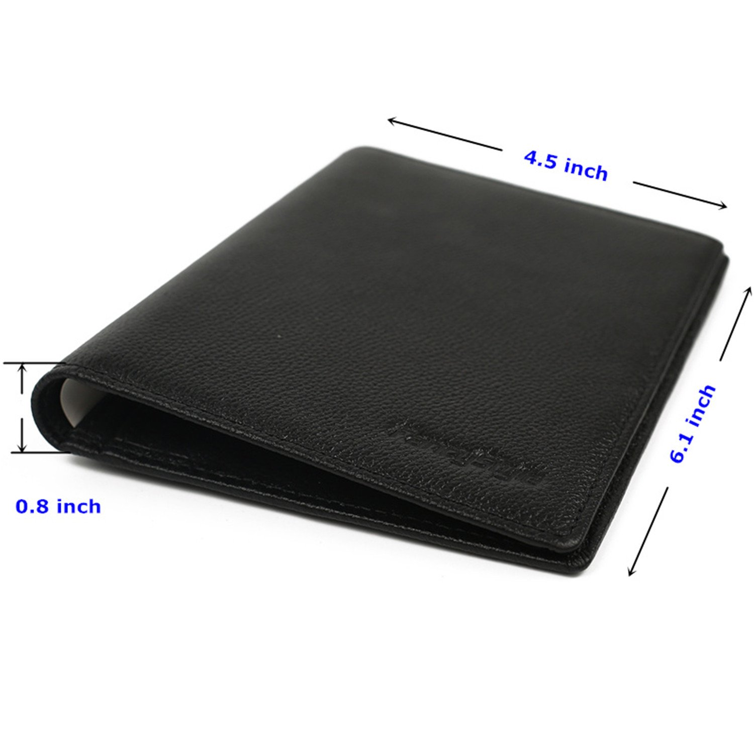 FancyStyle RFID Blocking Travel Wallet & Passport Holder Unisex Genuine Leather Black