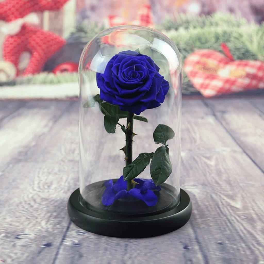 永遠の花永遠のバラは、バレンタインデーのガールフレンドの誕生日に最適なギフトです(多色オプション) (色 : Royal blue) B07DCV95WS Royal Blue Royal Blue