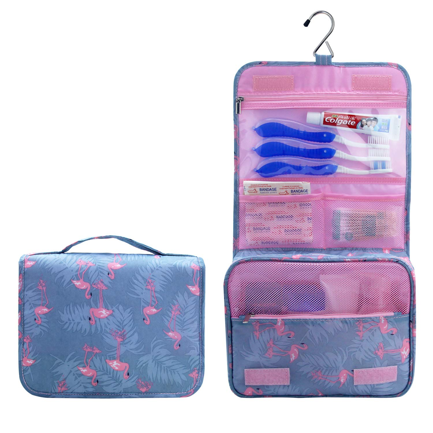 Travel Hanging Toiletry Bag for Men Women Travel Kit Shaving Bag Waterproof Wash Bag Makeup Organizer for Bathroom Shower Blue Relavel
