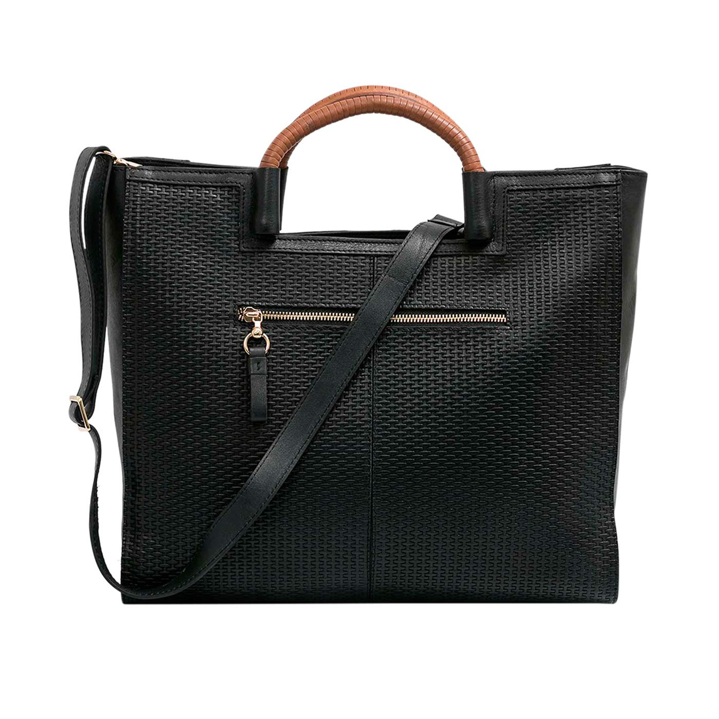 Amazon.com | VÉLEZ 20666 Women Leather Business Briefcase | Maletín De Cuero Mujer Black | Briefcases