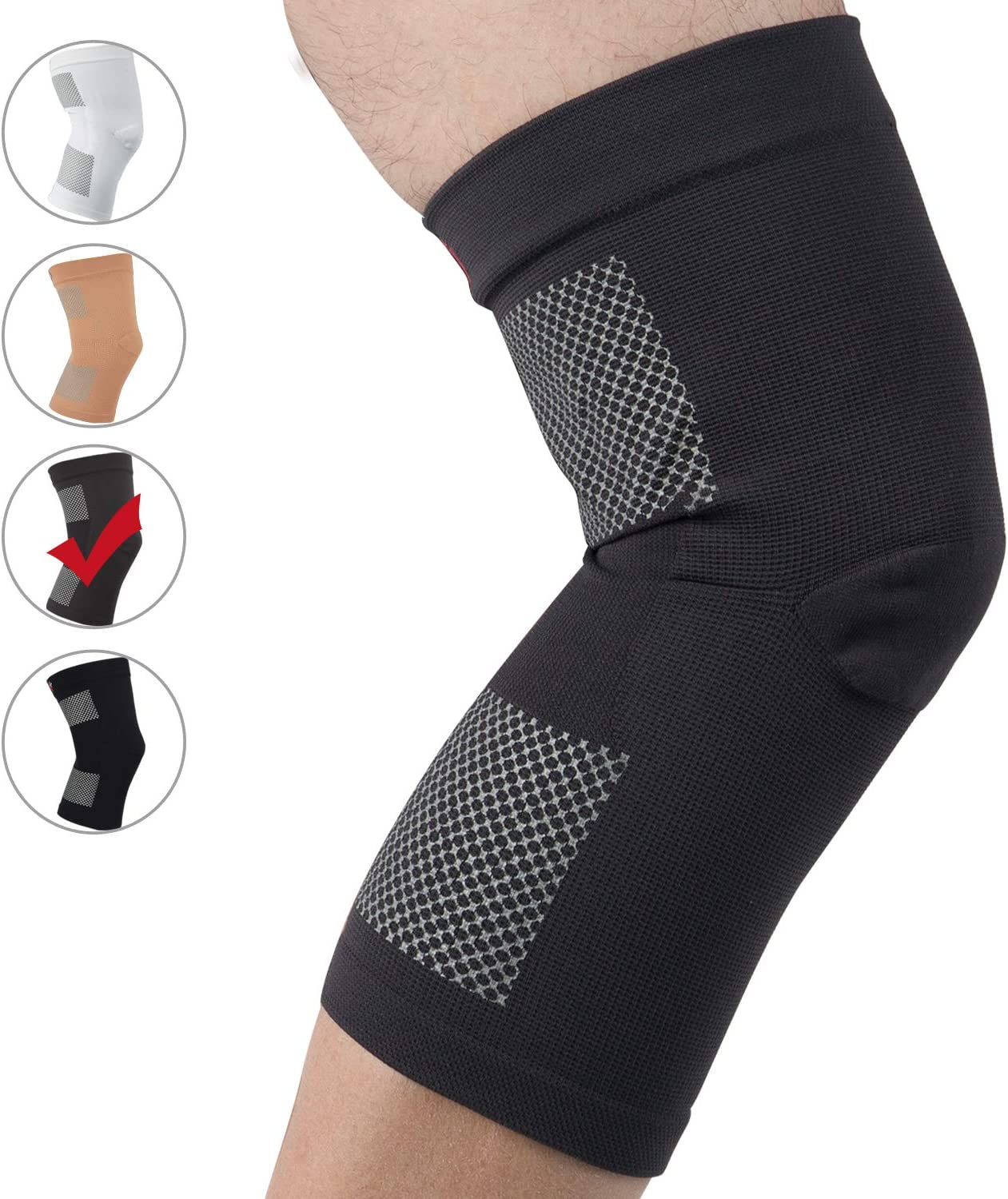 Arthritis Joint Pain Relief for Meniscus Tear Knee Support Brace for Men /& Women Injury Recovery,Workout +MD Knee Compression Sleeve ACL Basketball 2 Pack Sports MCL Running