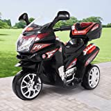 JAXPETY Kids 3 Wheel Electric Motorcycle 6V Bike Battery Powered Ride On Toy New Black