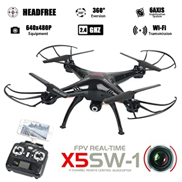 WayIn® Syma X5SW Exploradores cámara de 4 canales WiFi FPV RC Dron ...