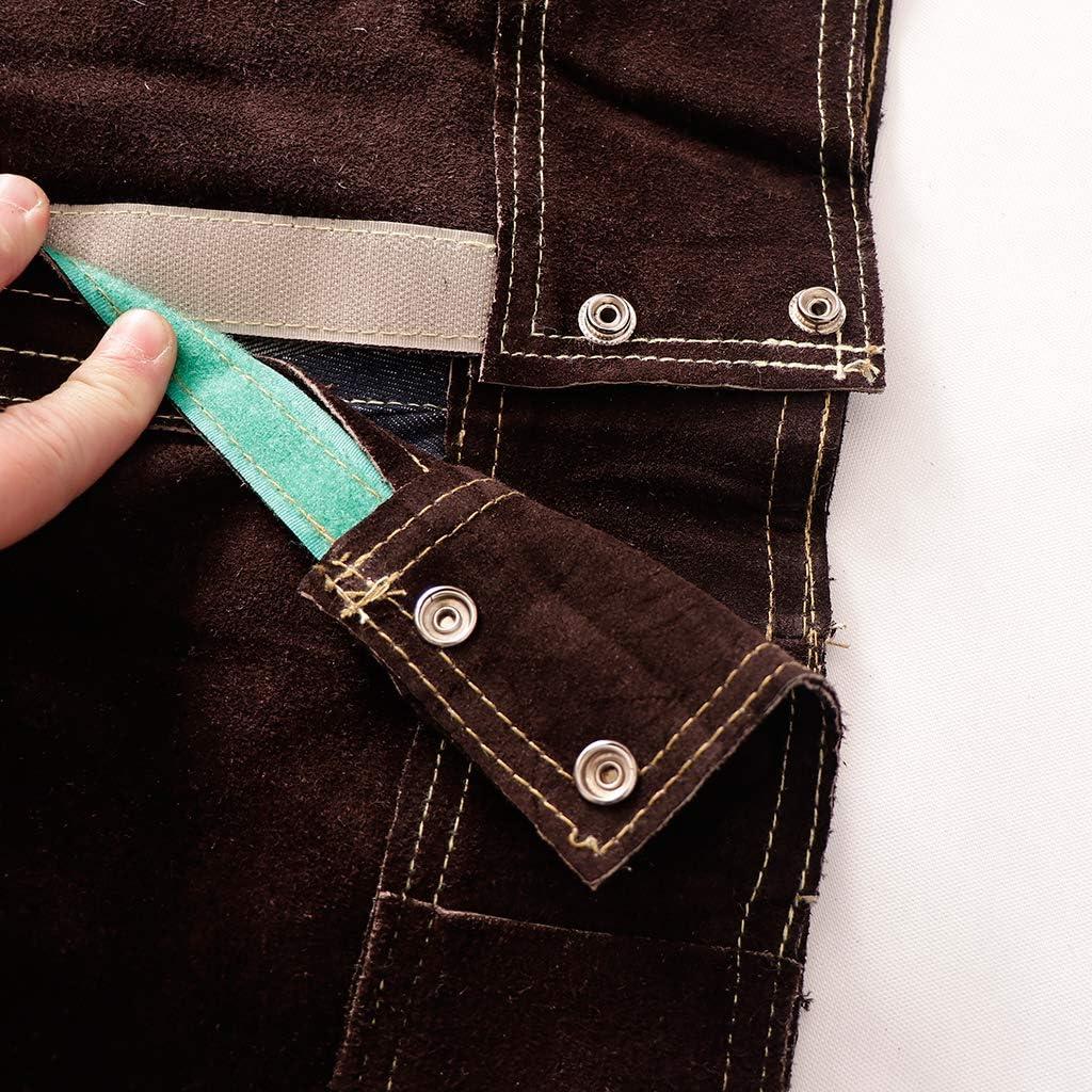 Pantaloni Marroni L FLAMEER Abbigliamento Saldatore Giacca Cappotto Giubbotti Indumenti Protettivi