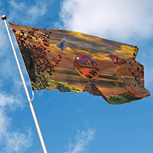 Fly Breeze 3 X 5 Foot Flag Beautiful Nature Scene Vivid Color and Uv Fade Resistant Canvas Header and Double Stitched Garden Flags
