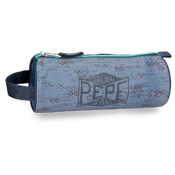 Pepe Jeans Pierce Neceser de Viaje, 23 cm, 1.86 litros, Azul ...