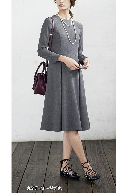 (フェリシモ) IEDIT レーベルコレクション フィット&フレアーシルエットのイットドレス ヘザーグレイ